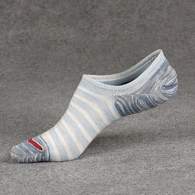 No Show Invisible Non-Slip TriStripes Socks