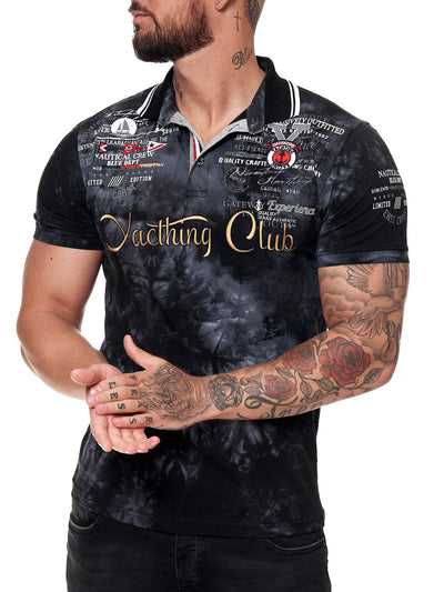 """Yacthing Club"" Polo T-Shirt - Black X61A"