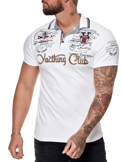 """Yacthing Club"" Polo T-Shirt - White X61B"
