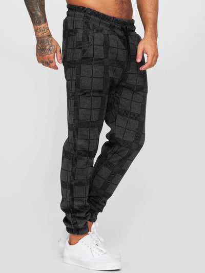 Balo Plaid Sweatpants Joggers - Dark Gray X73A
