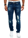Rego Distressed Jeans - Blue X77