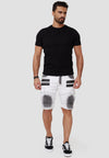 Araf Cargo Denim Shorts - White X81C