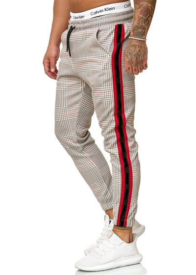Patta Plaid Sweatpants Joggers - Gray Red X0008A