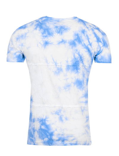 Y&R Men Tie Dyed Pocket T-shirt - Blue