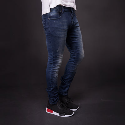 2Y Men Slim Fit Simlight Distressed Jeans - Blue - FASH STOP