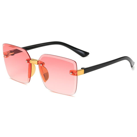 Kids Rimless Rectangle Sunglasses Children Classical Frameless Sun Glasses Boy Girls