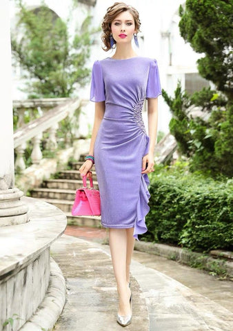 Women Luxury Beading Mesh Dress