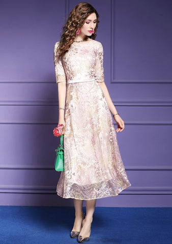 Women Long Luxury Embroidery Dress