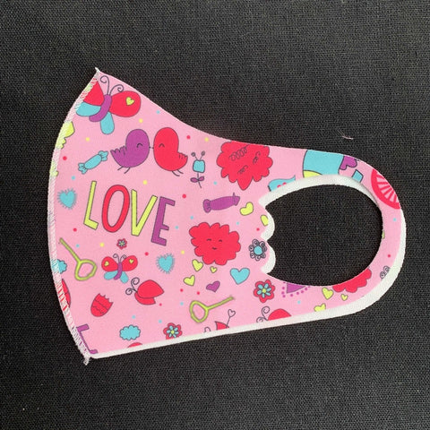 Masks Reusable Dust 3d Design Pink children's Masks Fabric Mouth Cover