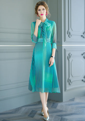 Women Spring & Summer Elegant Chiffon Dress