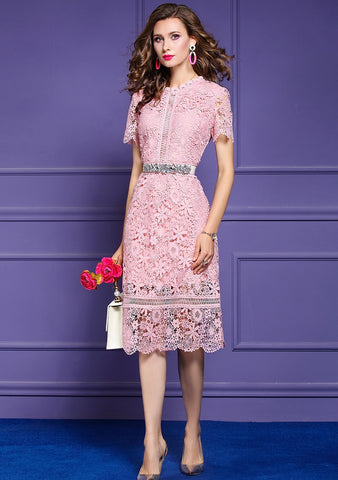 Women Summer Elegant Lace Dress
