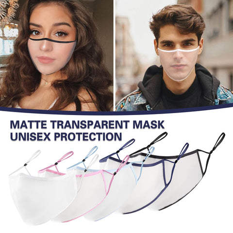 Unisex Health Mouth Mask Adult Lip Language Transparent Mask