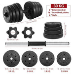 30kg Adjustable Dumbbell Weight Set - Physical Solutions