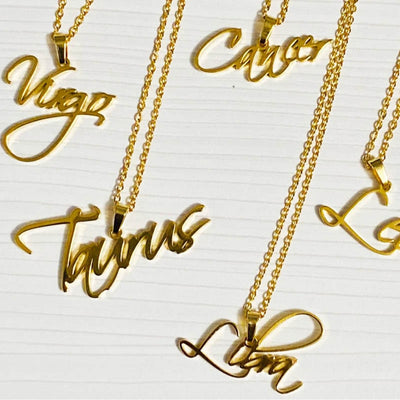 Custom Name Necklace In Script Font