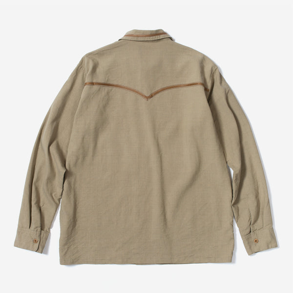 Embroidery Open Collar LS SH