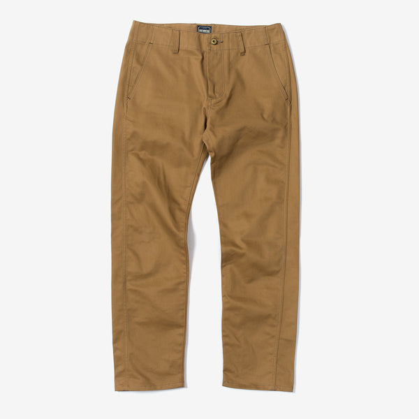 Natural Straight Trousers -Chino-