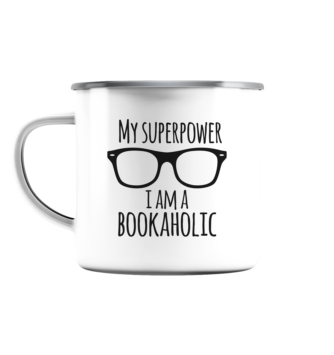Book in Progress Emaille - Emaille Tasse