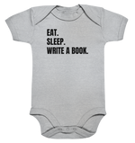 Lade das Bild in den Galerie-Viewer, Eat. Sleep. Write a Book. - Baby Bodysuite