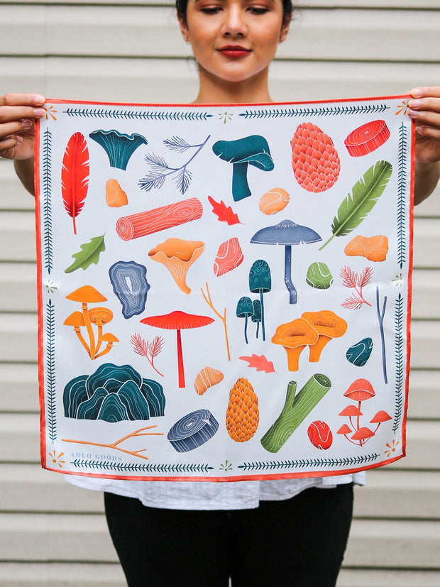 Let's Hike Silk Scarf Light (Small) 1