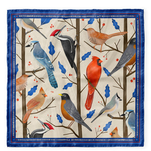Song Bird Silk Scarf (Small)