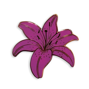 Purple Lily Pin