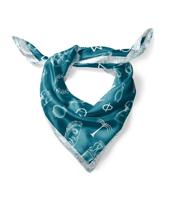 Teal Greek Scarf (Small) 1