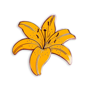 Yellow Lily Pin