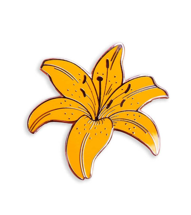 Yellow Lily Pin 1