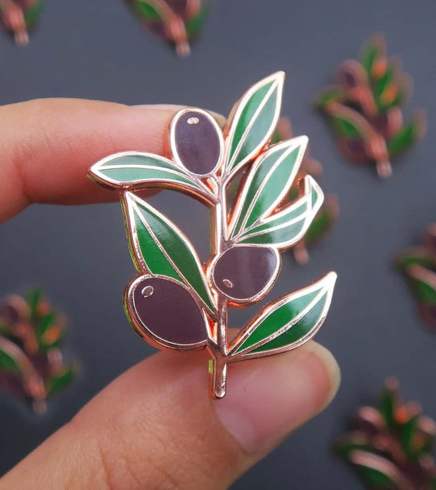 Olive Branch Peace Pin 1