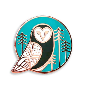 Barn Owl Pin