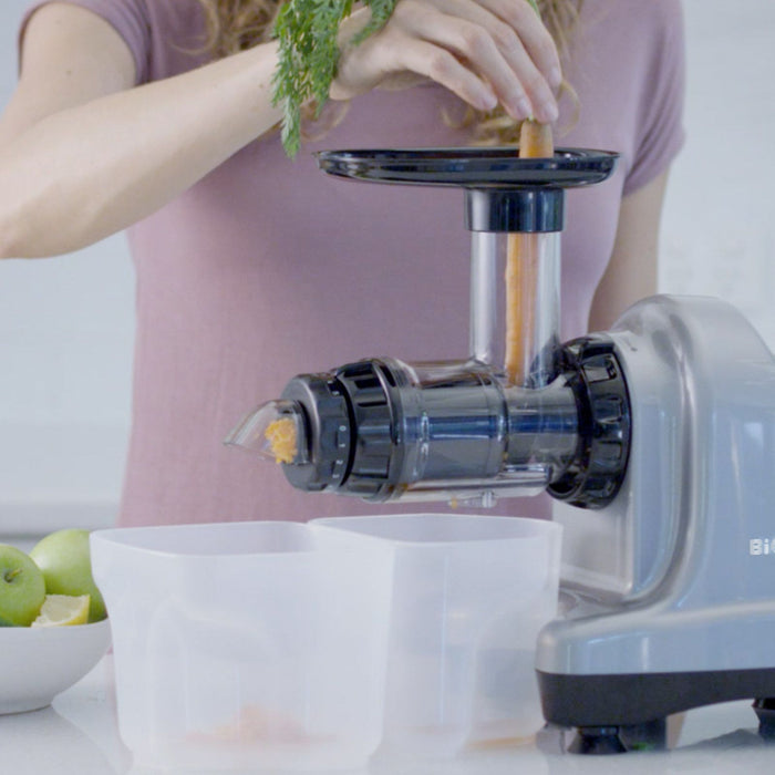 Axis-Cold Press, Masticating, Ultimate Leafy Green Juicer, SILVER