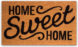 Doormat with Heavy-Duty PVC Backing - Home Sweet Home