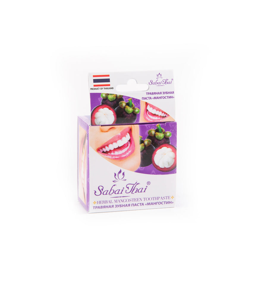 SABAI THAI Natural Herbal Mangosteen Toothpaste Fluoride Free, 25g
