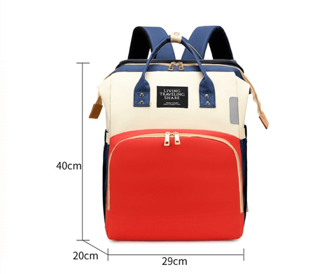 Babytasche Wickeltasche Schlafunterlage USB Foldable & Removable Travel Bassinet Baby Crib Diaper Bag Infant Sleeper Baby Nest with Mattress Nappy Changing ea-onlineshop