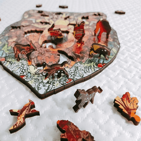 Wood Puzzle 3d Animal Tiere