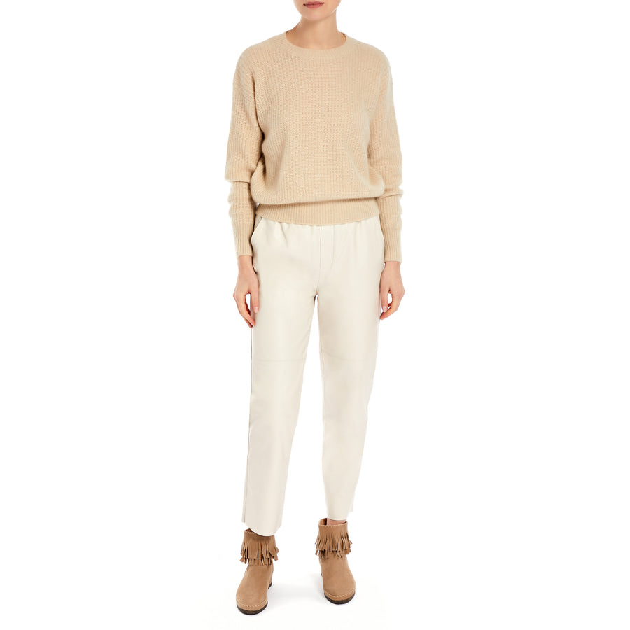 IMAGO Marge Fine Brushed Cashmere Jumper Beige - the store London