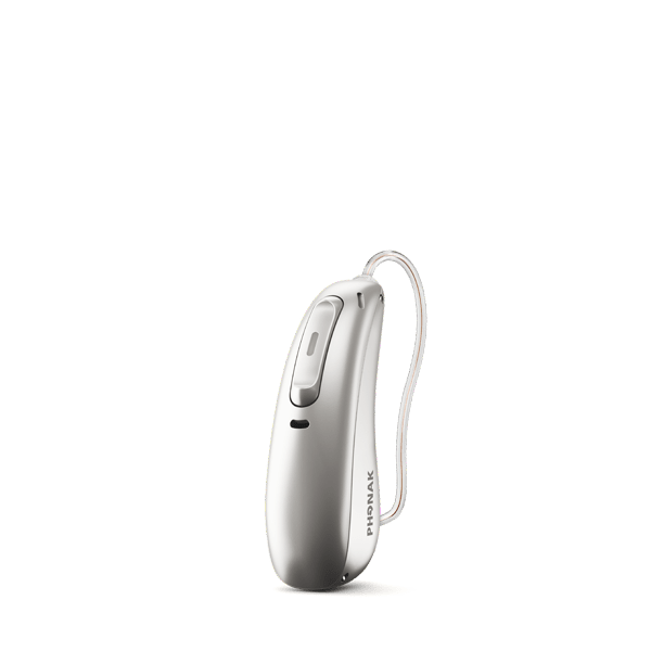 Phonak Hearing Aid Silver Gray / Rechargeable Battery Phonak Audeo Paradise 70