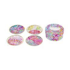 Lilly Pulitzer Ceramic Assorted Coaster Set - Scuba to Cuba