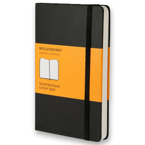 Moleskine Classic Notebook - Large, Black, Ruled