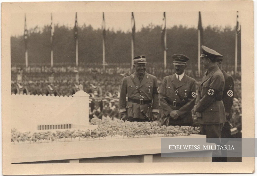 PHOTO ADOLF HITLER AVEC RESPONSABLES DE LA SA