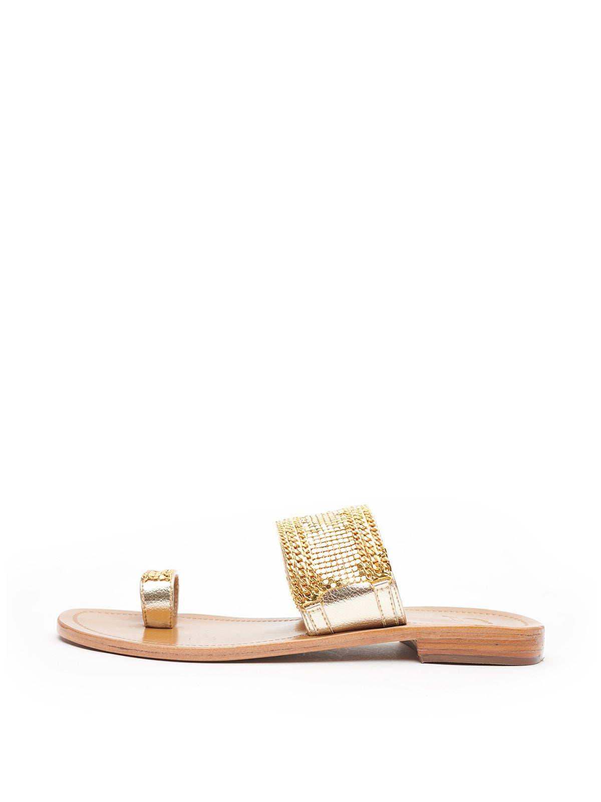 Dot & Chain Toe Ring Slides