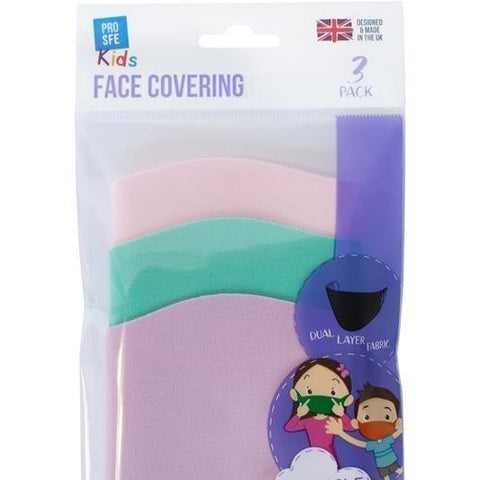 Pro Safe Kids Reuse Face Mask Pack 3