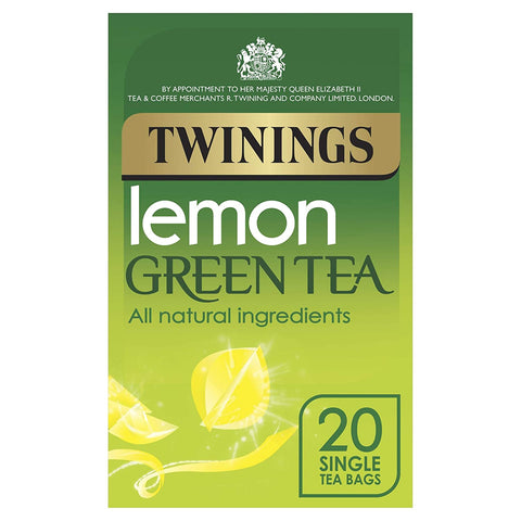 Twinings Green Tea Bags With Lemon Pack 20