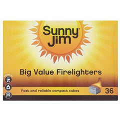 Sunny Jim Firelighters Pack 36