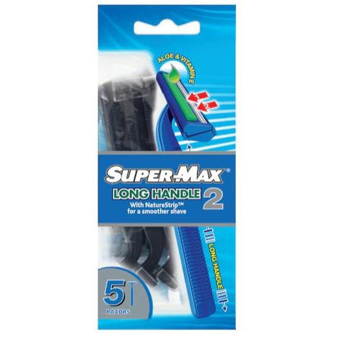 Supermax Long Handle Razors Pack 5