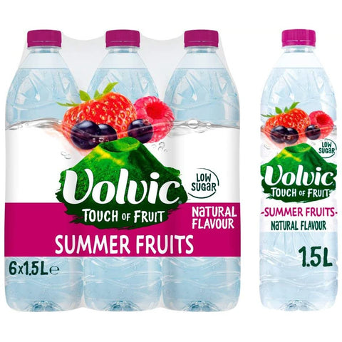 Volvic Touch Of Fruit Summer Fruits 1.5Ltr Case 6