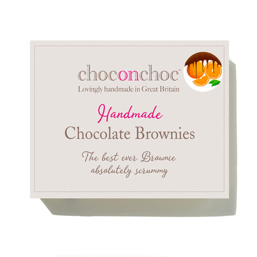handmade chocolate orange brownie box