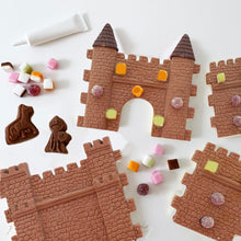 Load image into Gallery viewer, make your own and decorate milk chocolate castle kit