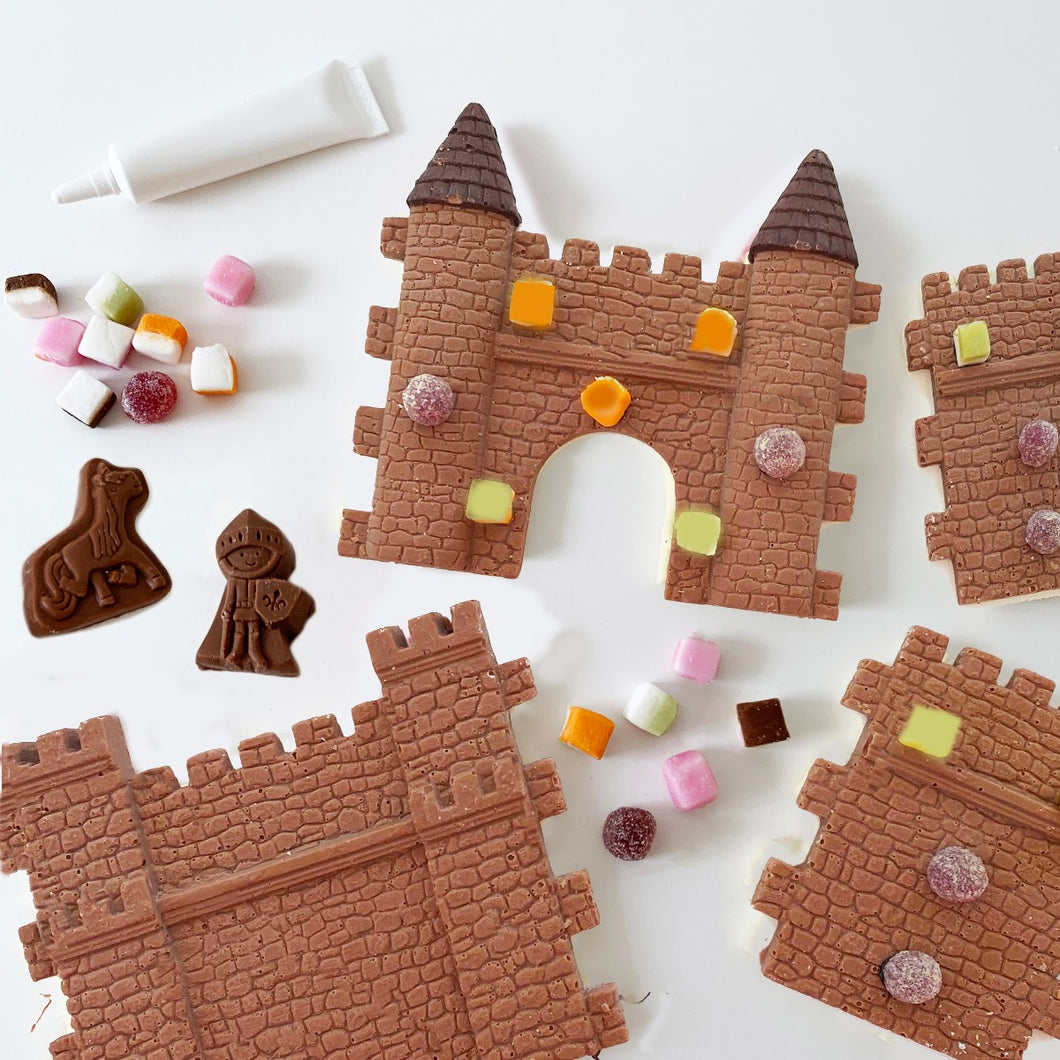 make your own and decorate milk chocolate castle kit