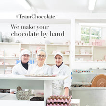 Load image into Gallery viewer, Three women chocolate makers in white coats and hats